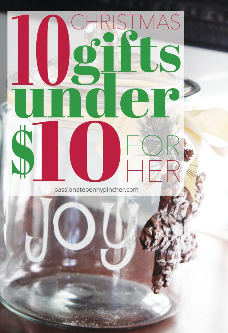 10 Christmas Gifts Under $10 For Her | Passionate Penny Pincher