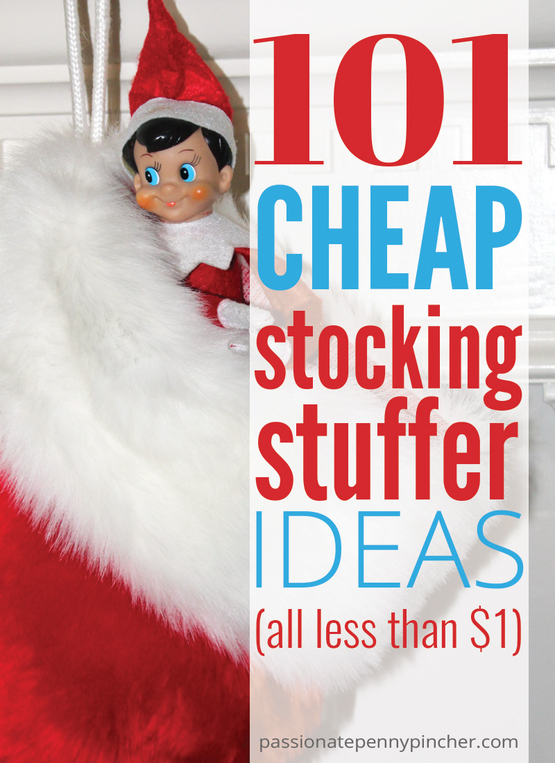 Check out these 101 cheap stocking stuffer ideas! Most of them can be picked up at the Dollar Tree during your last minute Christmas shopping!
