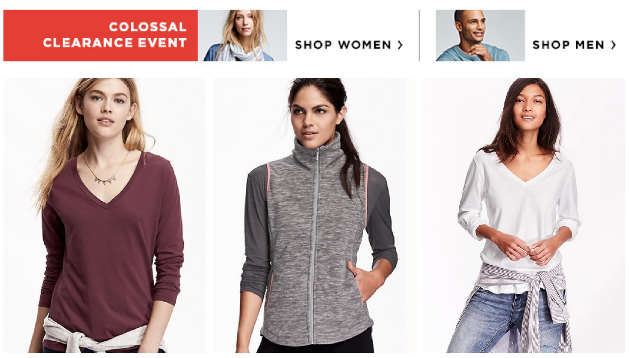 Old Navy Colossal Clearance Sale (Lots of Items Under $5 ...
