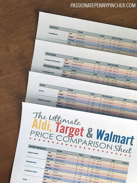 Budgeting archives passionate penny pincher to get aldi target walmart comparison sheet go here and download your free pdf fandeluxe Gallery
