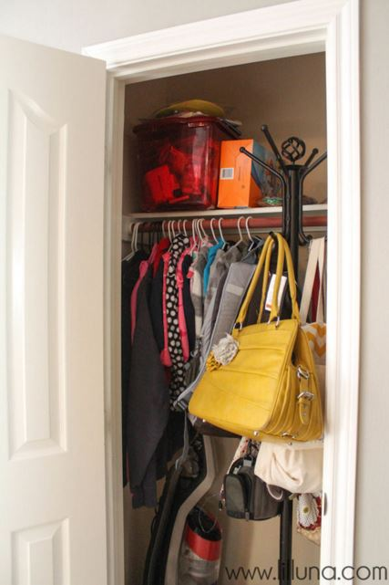Check Out How Kristyn From Lilu0027 Luna Turned Her Coat Closet Into An  Adorable, Functional Space For Her Family! Go HERE To See The Finished  Project.