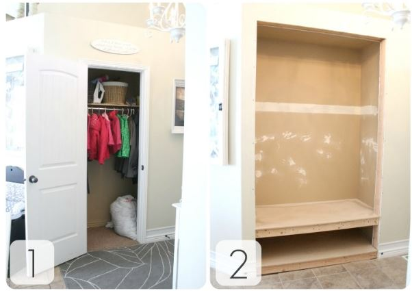 Check Out How Shelley And Cason From The House Of Smiths Turned Their Small  Coat Closet Into A Super Functional Entryway Nook! Go HERE To See Their  Detailed ...