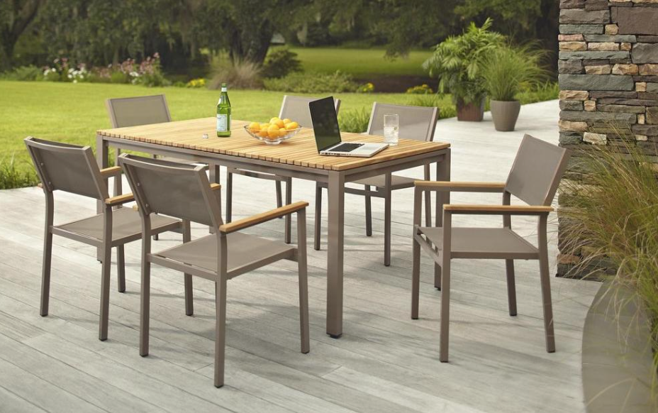 Hampton Bay Barnsdale Teak 7-Piece Patio Dining Set $259 (Regularly ...