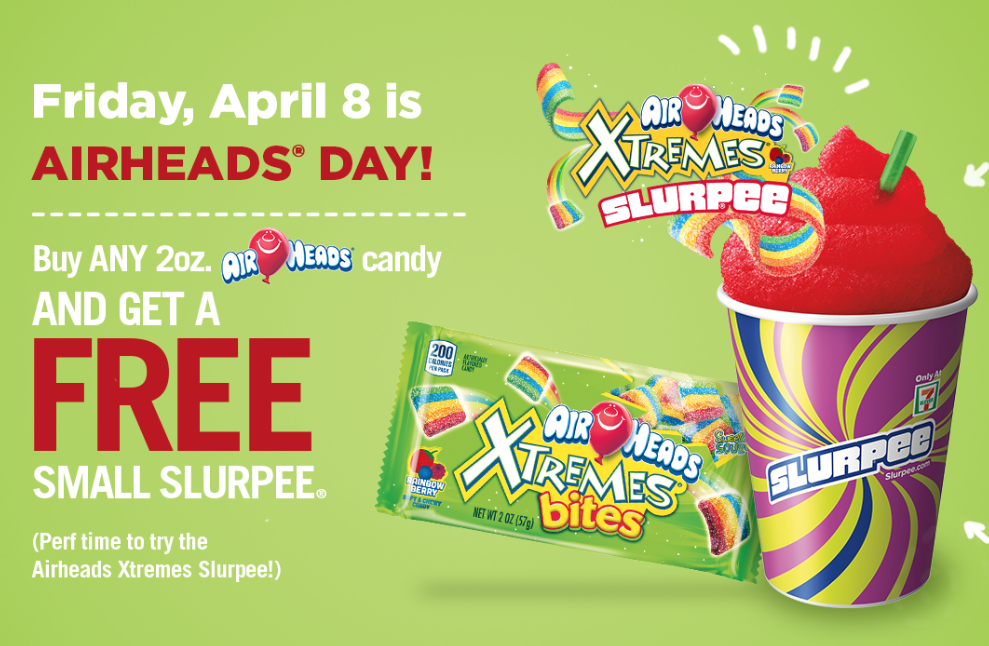 Free Airheads Slurpee at 7-Eleven with Airheads Candy