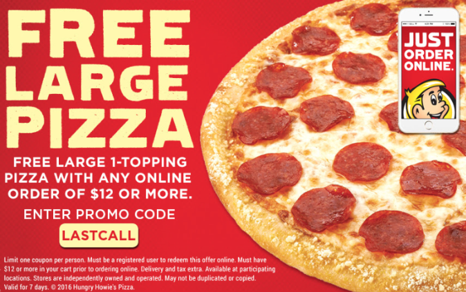 hungry howies online order coupon
