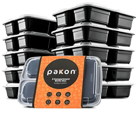 3-Compartment Bento Box Lunch Containers