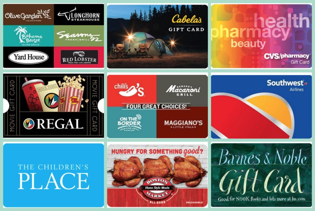 Gift Card Savings On Ebay Regal Olive Garden Chili 39 S Red Lobster Cabela 39 S Southwest And