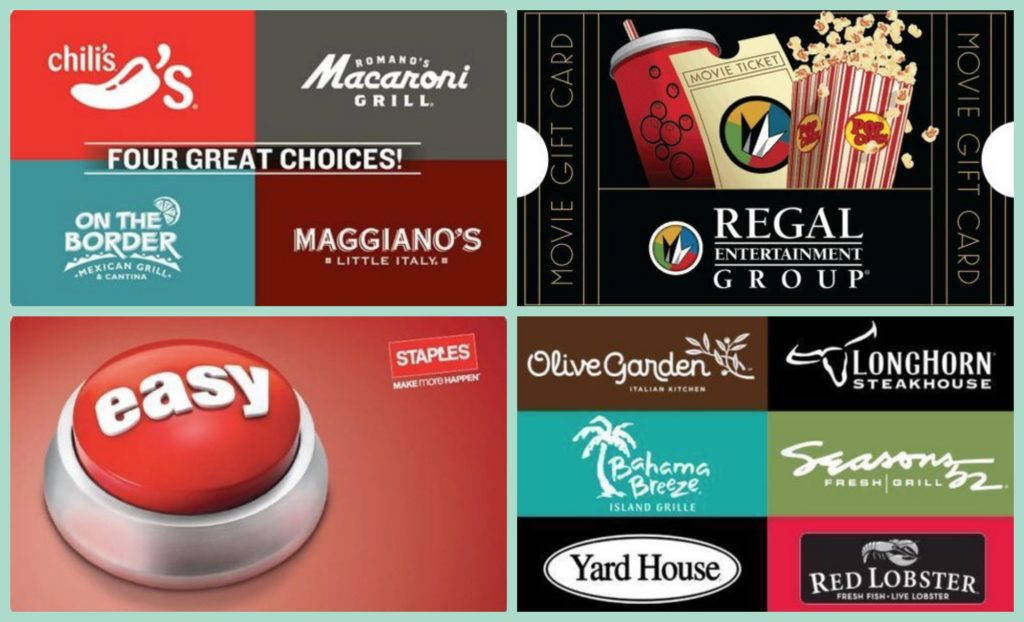 50 Regal Gift Card Only 40 Olive Garden Longhorn Chili 39 S Maggiano S And More Gift Card