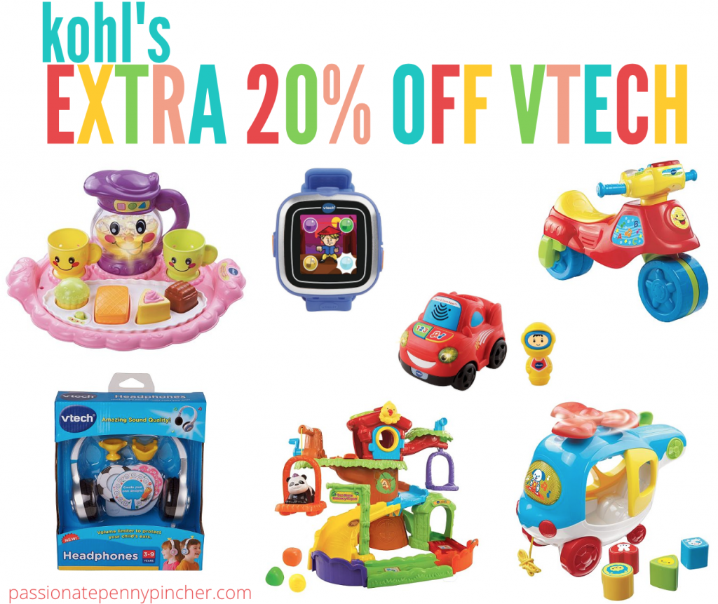 Kohlu0026#39;s: Extra 20% Off VTech Toys (+ Hoover Carpet Cleaner and FoodSaver Vacuum Sealer Deals ...