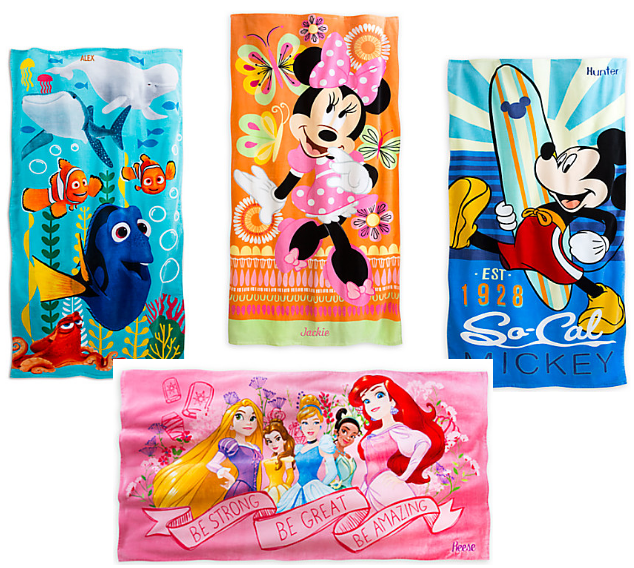 Personalized Beach Towels $5.99 From The Disney Store
