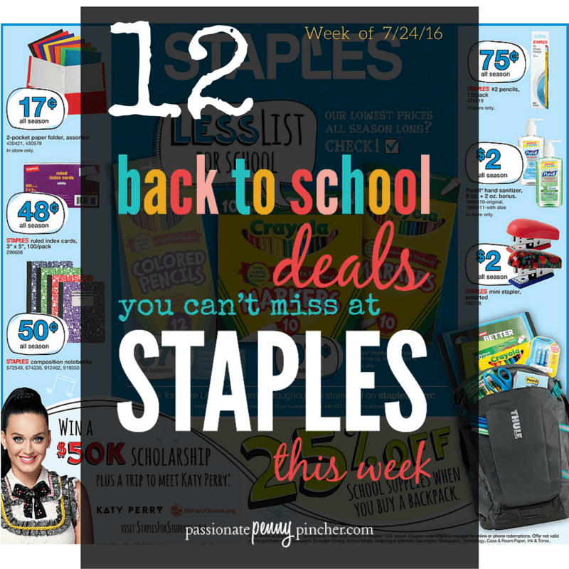 Back to School STAPLES