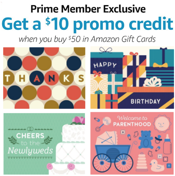 Amazon Prime Deal Free 10 Amazon Credit With 50 Amazon Gift Card