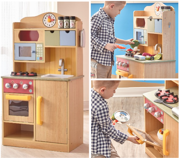 wooden toy kitchen accessories chef wooden play kitchen with accessories 67 1651