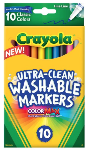 crayola 10 count ultra clean fine line washable markers 1 97