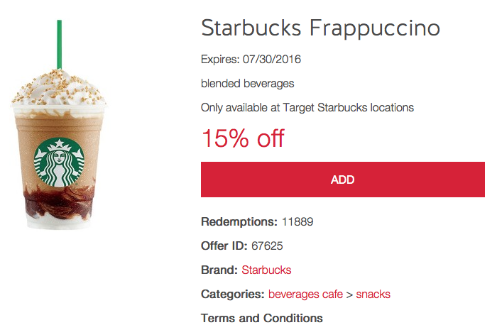 target marketing starbucks frappuccino