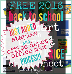 The Ultimate Back to School Walmart, Target, Staples, and Office Depot/Max Cheat Sheet