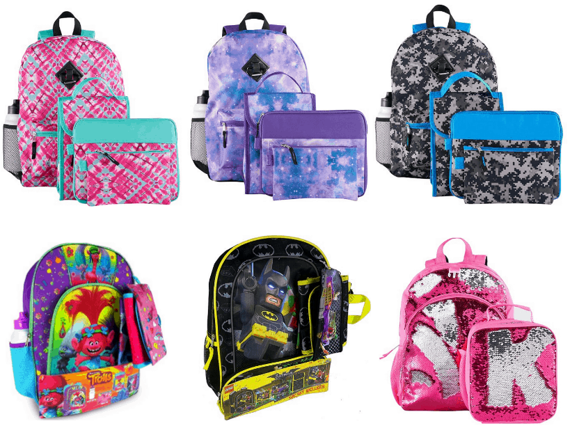 Kohl's | Kids 6-Pc Backpack and Lunch Bag Sets $11.32, Beach ...