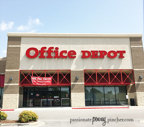office depot school supplies sales