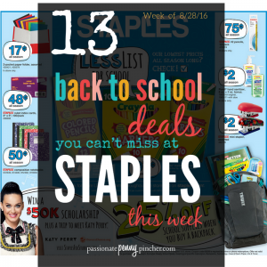 Back to School STAPLES13
