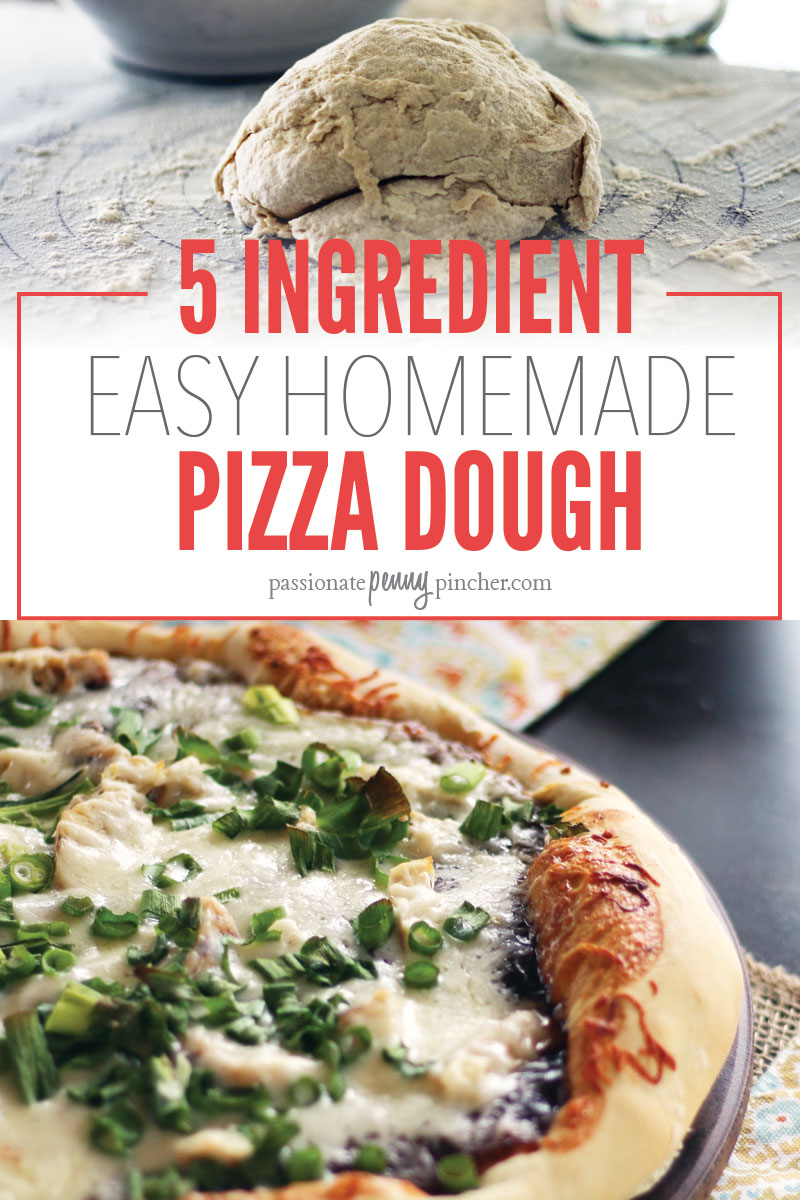5 Ingredient EASY Homemade Pizza Dough | Passionate Penny ... | 800 x 1200 jpeg 197kB