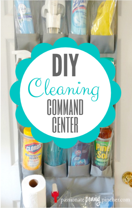 diy cleaning supplies organizer
