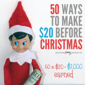 50 Ways To Make $20 Before Christmas {50x$20=1,000 earned}