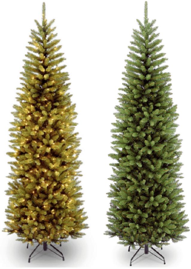Lowest Price 7 12' Prelit Kingswood Fir Pencil Christmas Tree