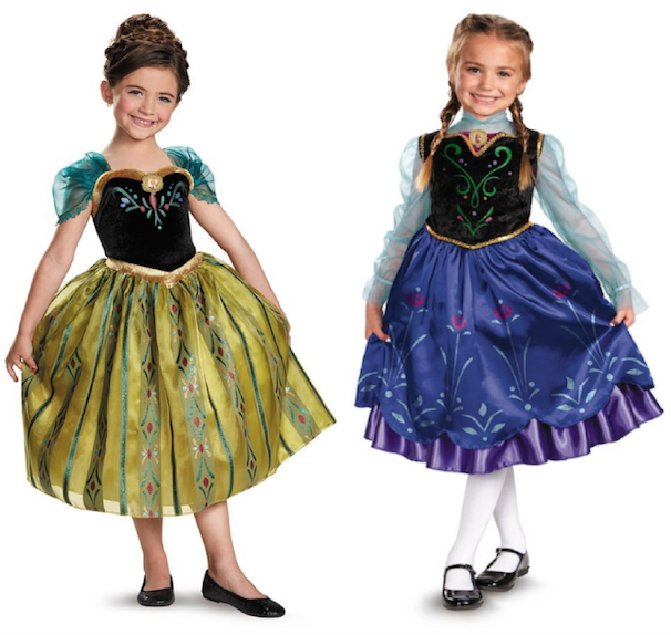 disneys frozen girls anna costume