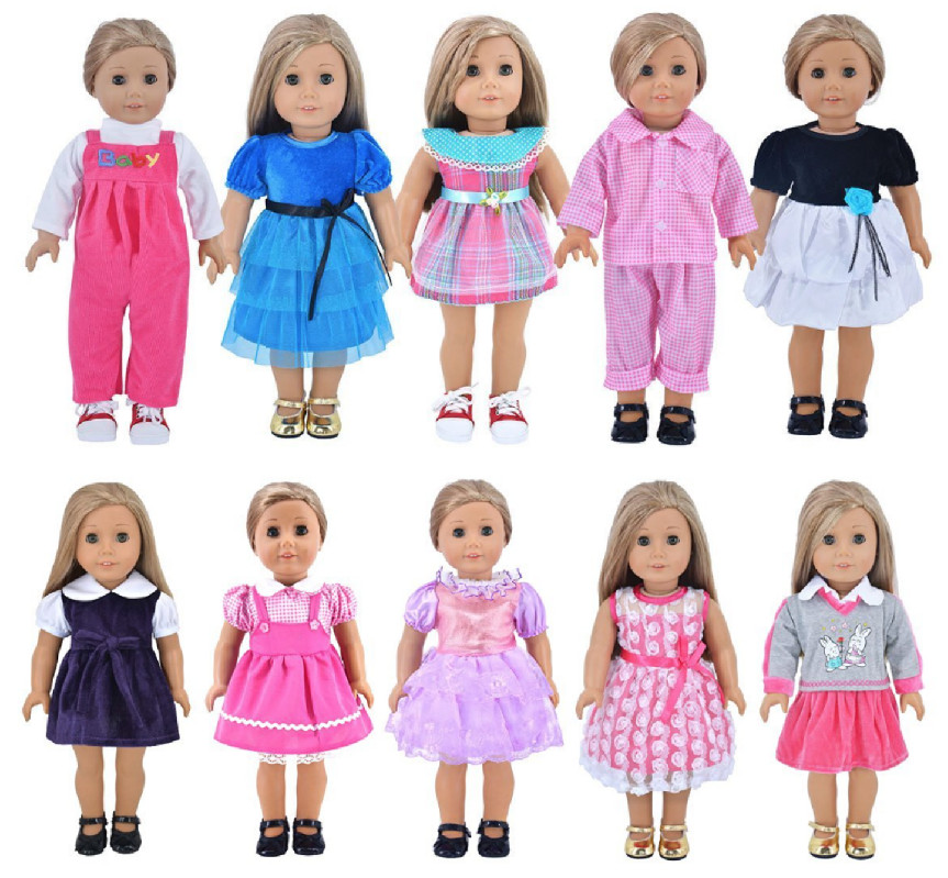 set of 5 american girl inspired doll outfits 19 99 4 each