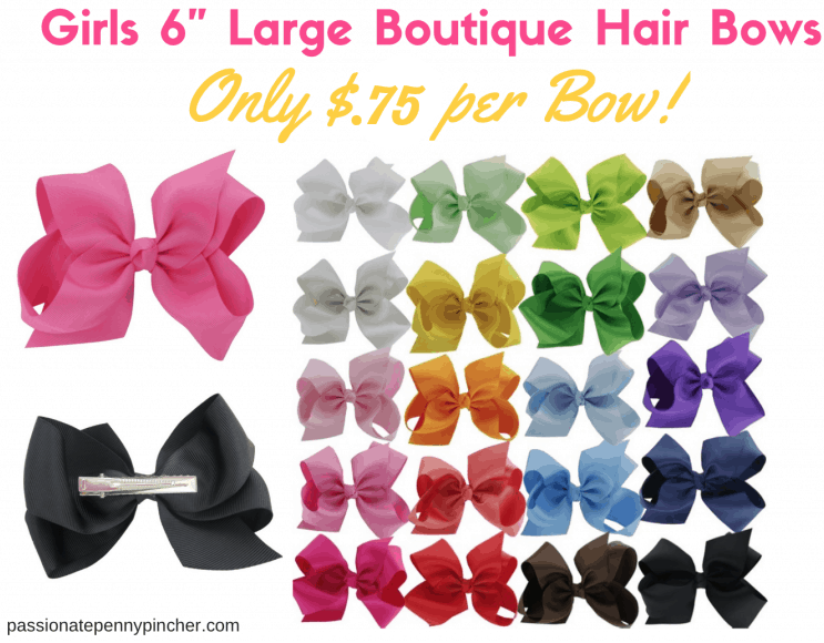 20 Large 6 Girls Boutique Hair Bows Just 14 99 75 Per Bow