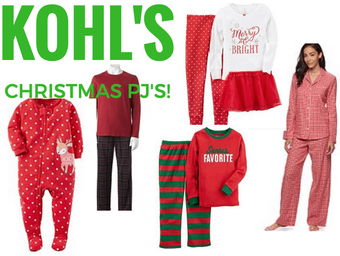 kohls pajamas for the whole family last day to redeem kohls cash