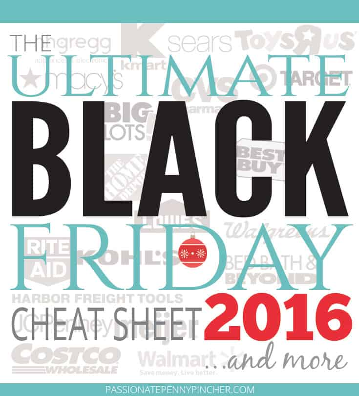 The Ultimate BLACK Friday Cheat Sheet 2016