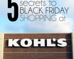 5 Secrets to Black Friday Shopping at Kohl's