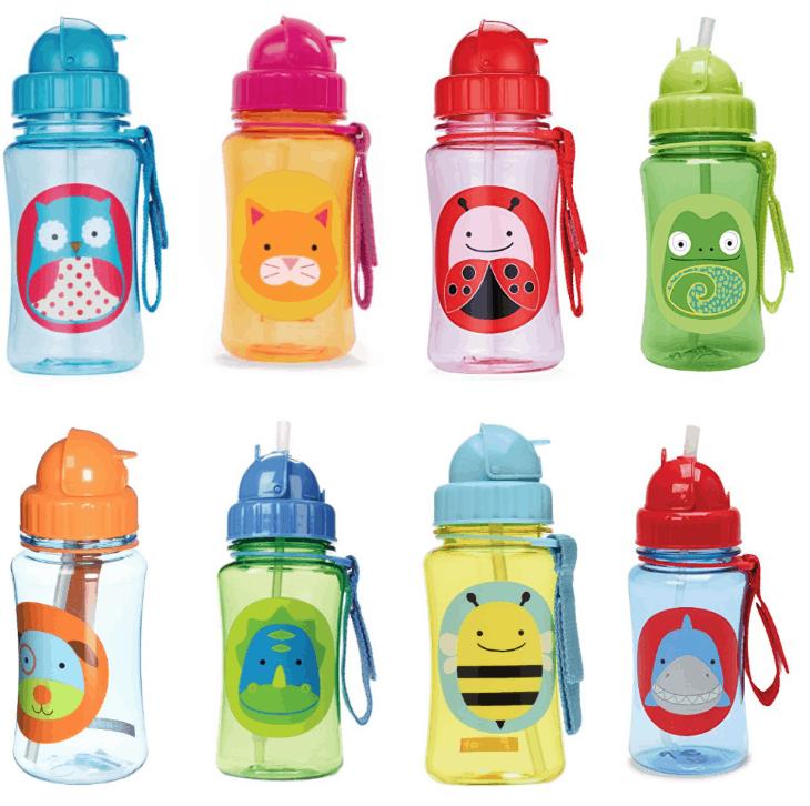 adorable-skip-hop-travel-to-go-flip-top-straw-bottles