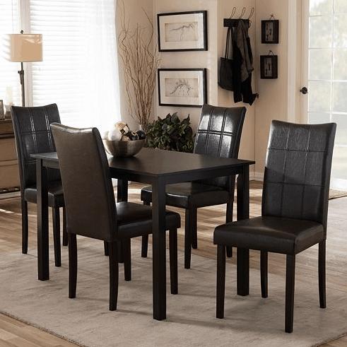 Baxton Studio Eden Dining Table Chair 5 Piece