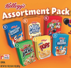 Kellogg's Single-Serve Cereal Boxes