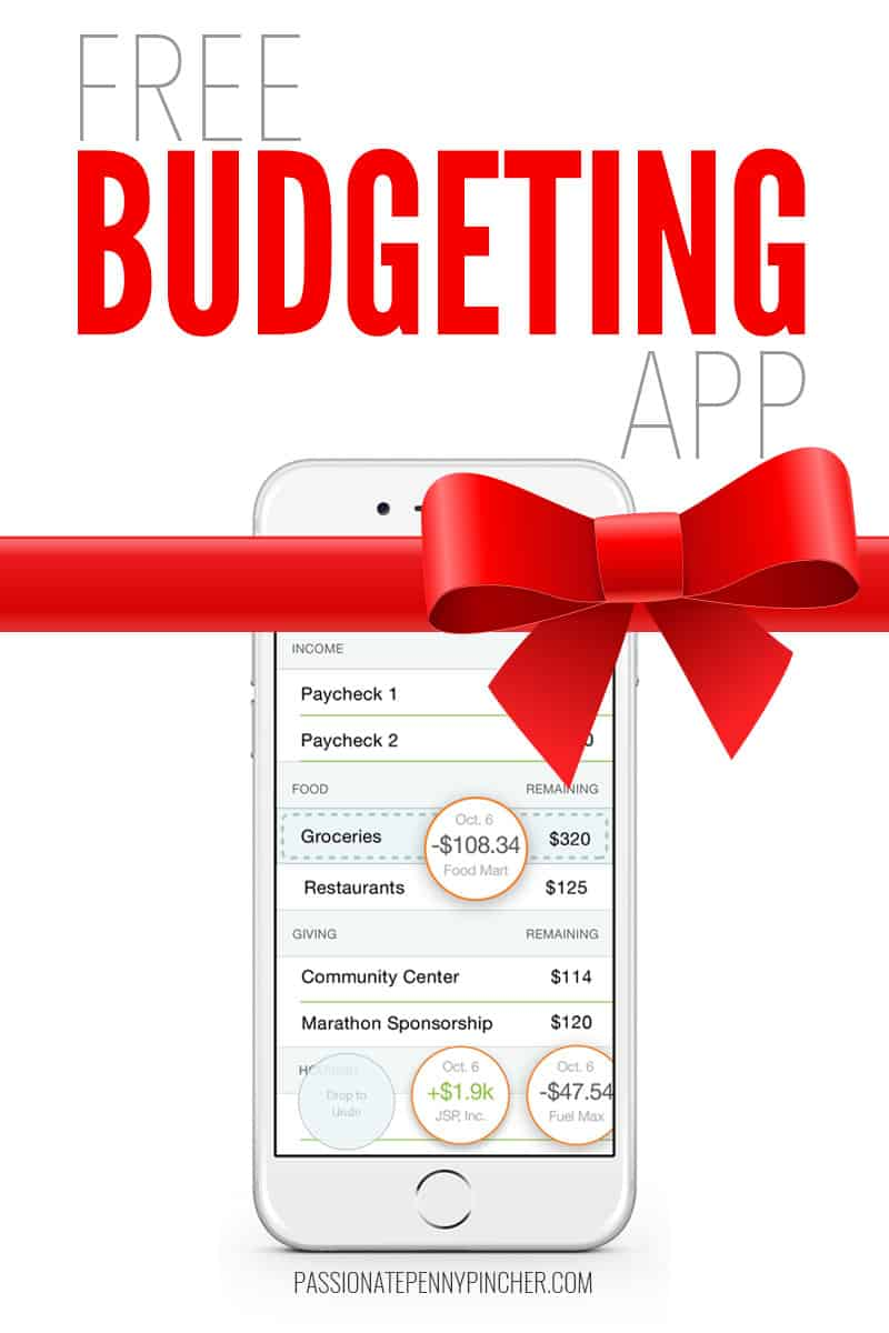 free budgeting app   giveaway at 9pm eastern time