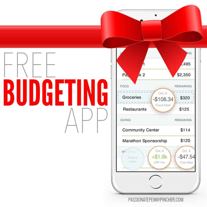 Free Budgeting App + Giveaway at 9PM Eastern Time