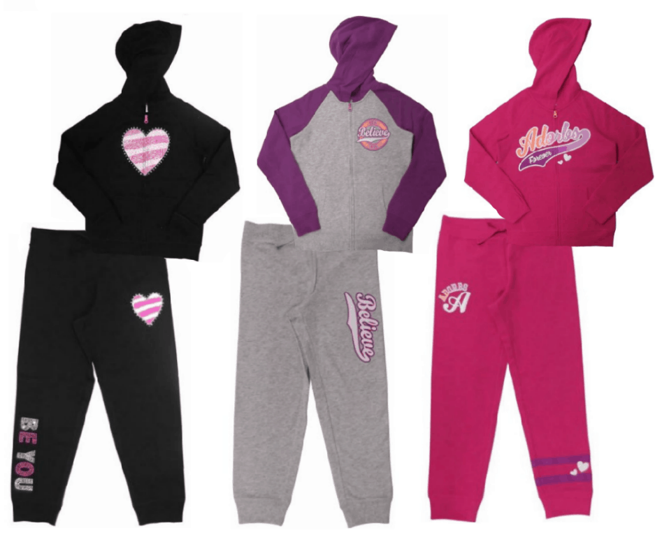 Danskin Now Girls' Graphic Fleece Hoodies