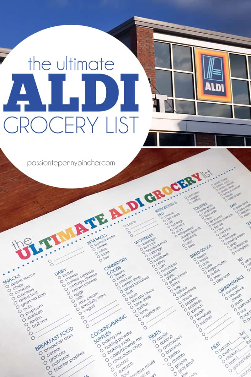 the ultimate aldi grocery list
