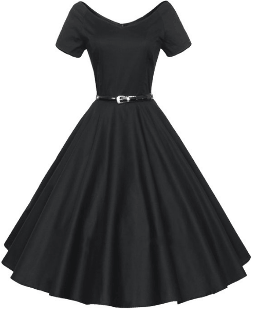 a1f48d9633d Women s 1950 s V-Neck Rockabilly Swing Evening Party Dress – Under  30  (LOTS of colors!) Retro ...