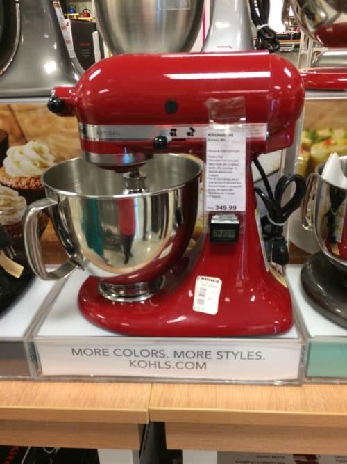 Kohl 39 s 3 day sale kitchenaid artisan mixer only 190 after rewards discounts passionate - Kohls kitchenaid rebate ...