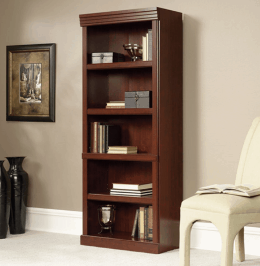 Lowest Price Sauder Heritage Hill Classic Cherry Open Bookcase