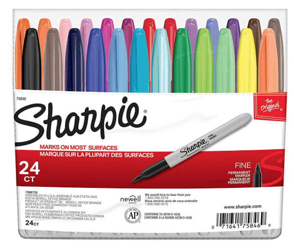 Sharpie 24-Count Fine Point Permanent Markers