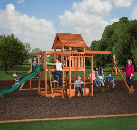 Lowest Price Backyard Discovery Prestige Cedar Swing Set