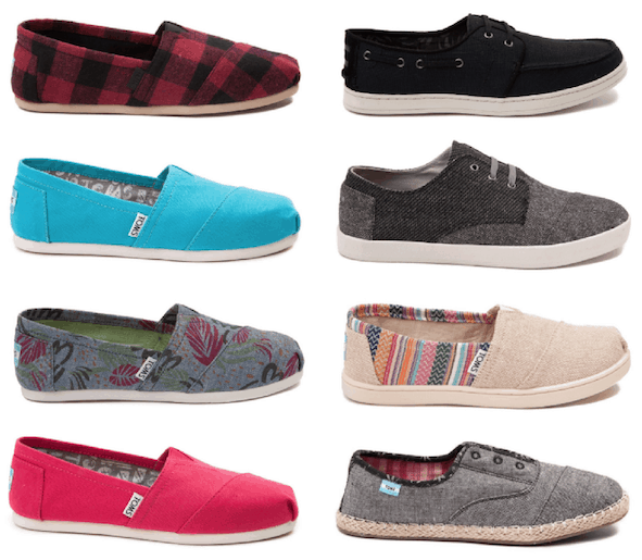 Right Now 6pm Is Offering Kids Toms For As Low 16 Plus Get Women S 27 And Men From Just 50