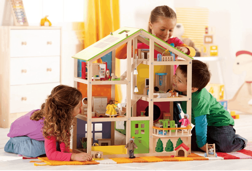 Hape Wooden Doll House With Accessories 67 67 Lowest Price
