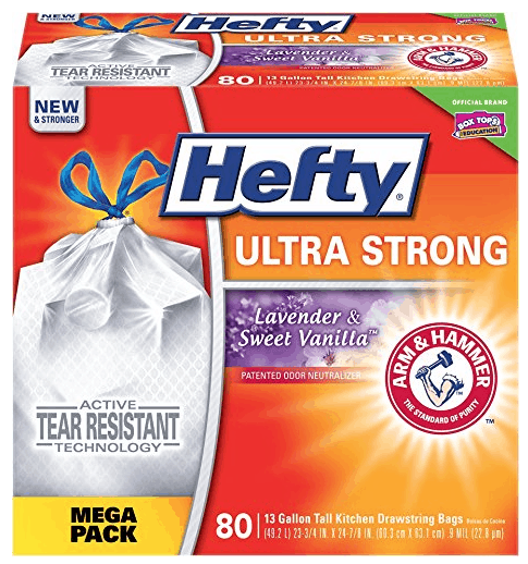 Hefty Ultra Strong Tall Kitchen Drawstring Trash Bags