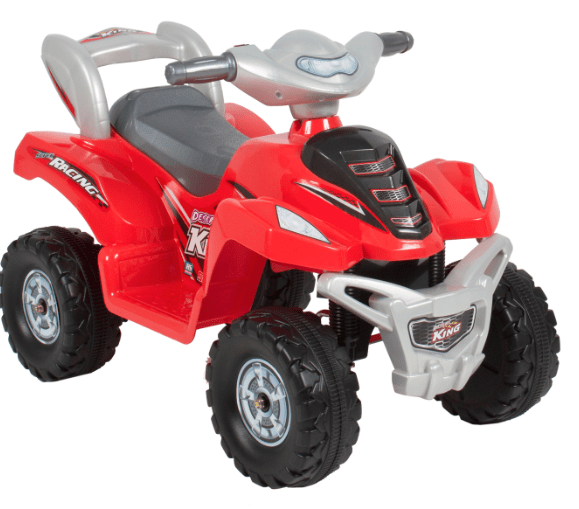 right now walmart has this kids 4 wheel ride on quad marked down to 5994 thats a nice savings off the original price of 12995