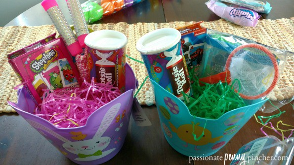 Dollar tree easter basket fillers build a basket under 5 each basket gets a couple fun outside toys jump rope and bubbles for a girl bug catcher and bubbles for a boy negle Choice Image